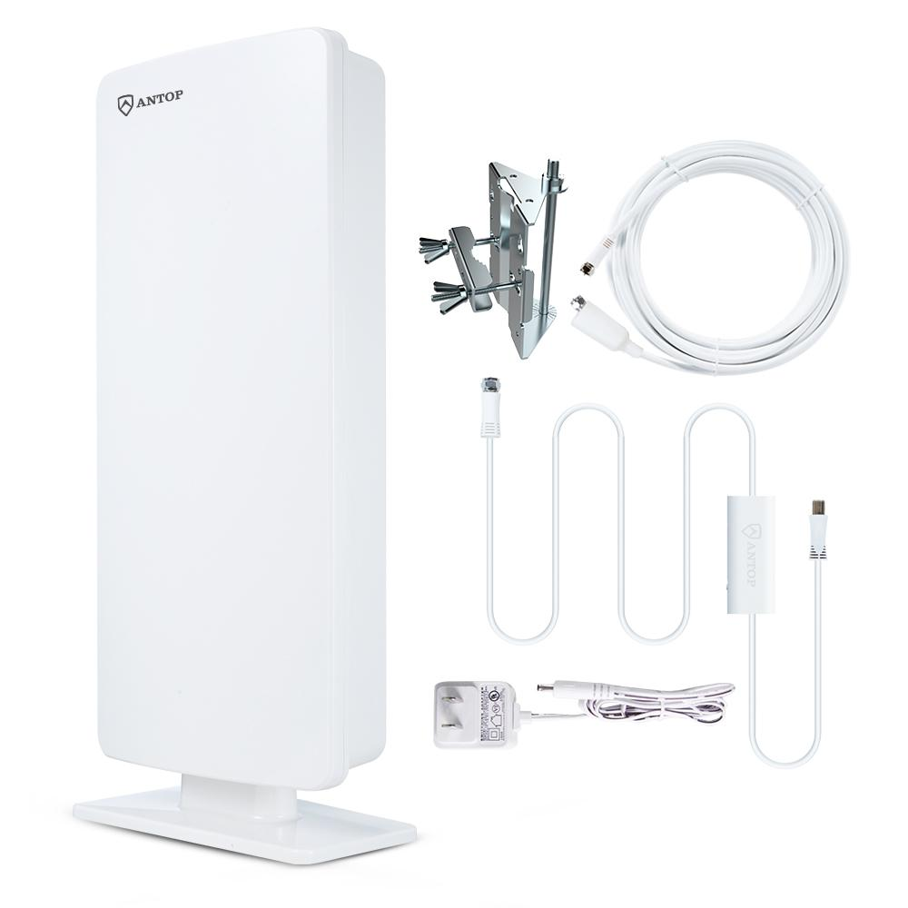 Flat-Panel Smartpass Amplified Outdoor Indoor TV Antenna with High Gain 4G