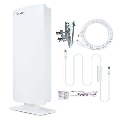Flat-Panel Smartpass Amplified Outdoor Indoor TV Antenna with High Gain 4G LTE Filter