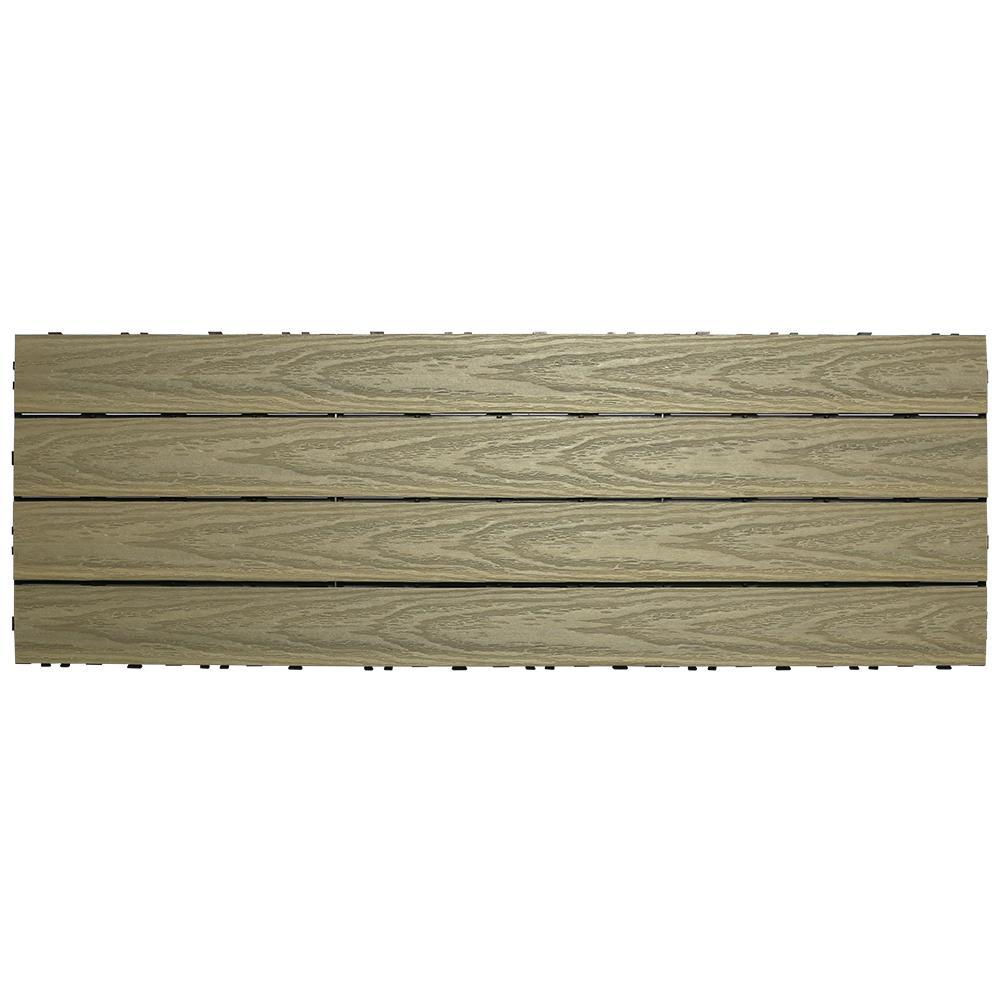 UltraShield Naturale 1 ft. x 3 ft. Quick Deck Outdoor Composite Deck Tile in Roman Antique (15 sq. ft. per box)