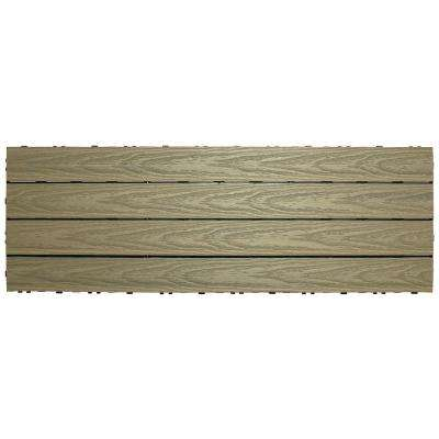UltraShield Naturale 1 ft. x 3 ft. Quick Deck Outdoor Composite Deck Tile in Roman Antique (15 sq. ft. per box)