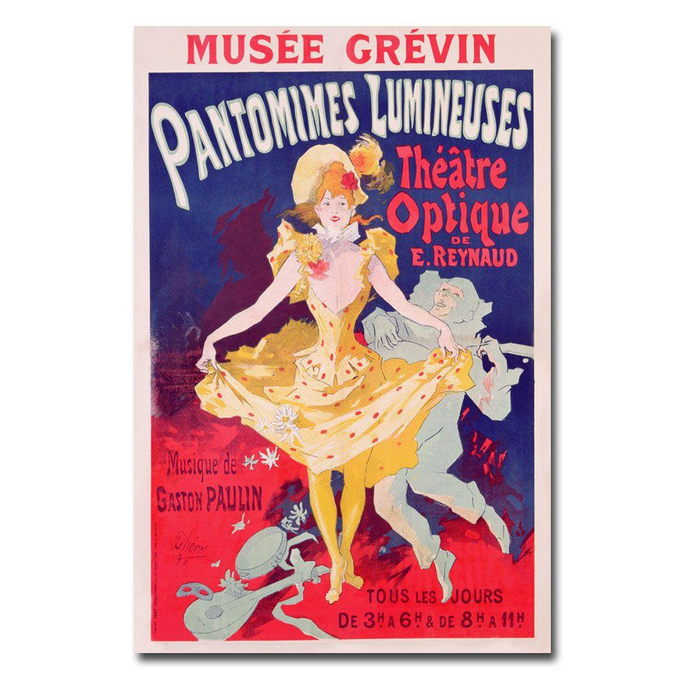 22 in. x 32 in. Pantomimes Lumineuses 1892 Canvas Art