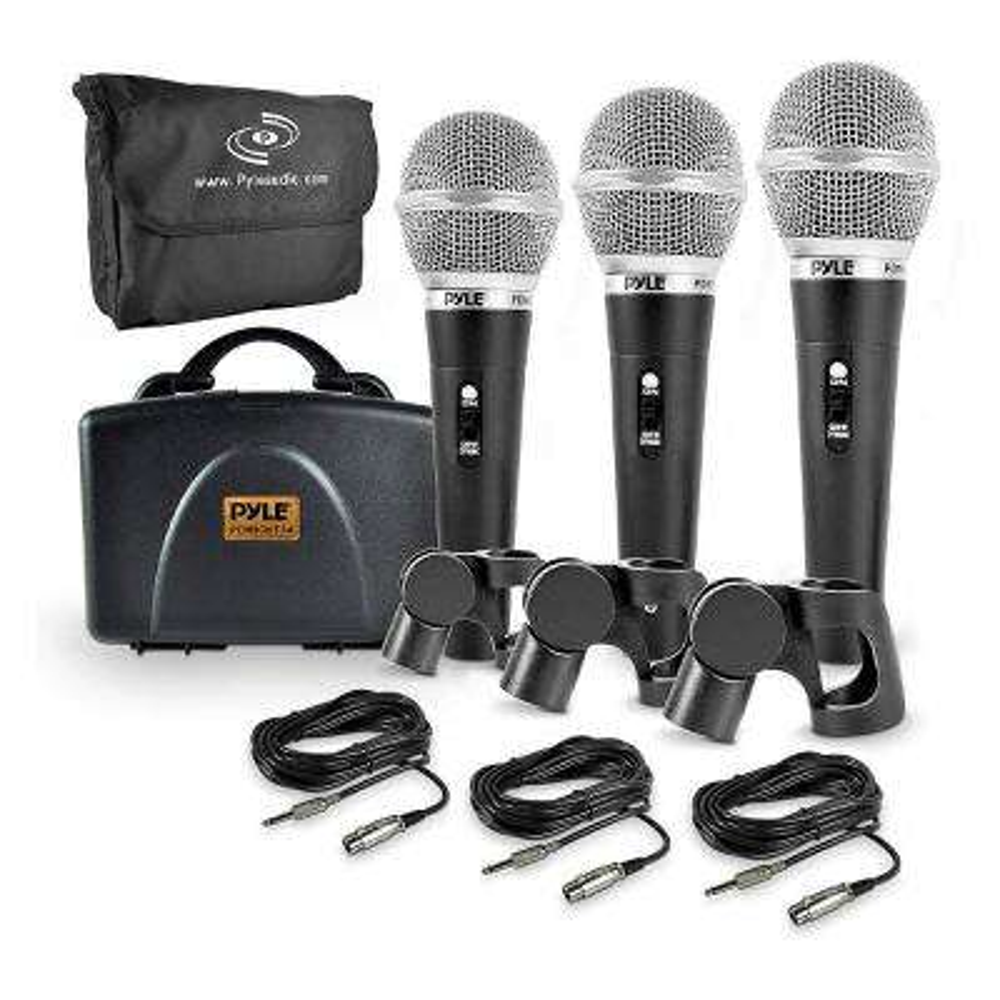 Dynamic Professional Dynamic 3 Handheld Kicrophones Kit in Black