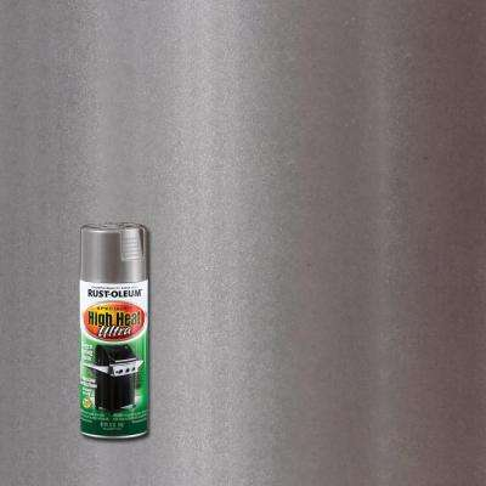 12 oz. High Heat Ultra Semi-Gloss Silver Spray Paint