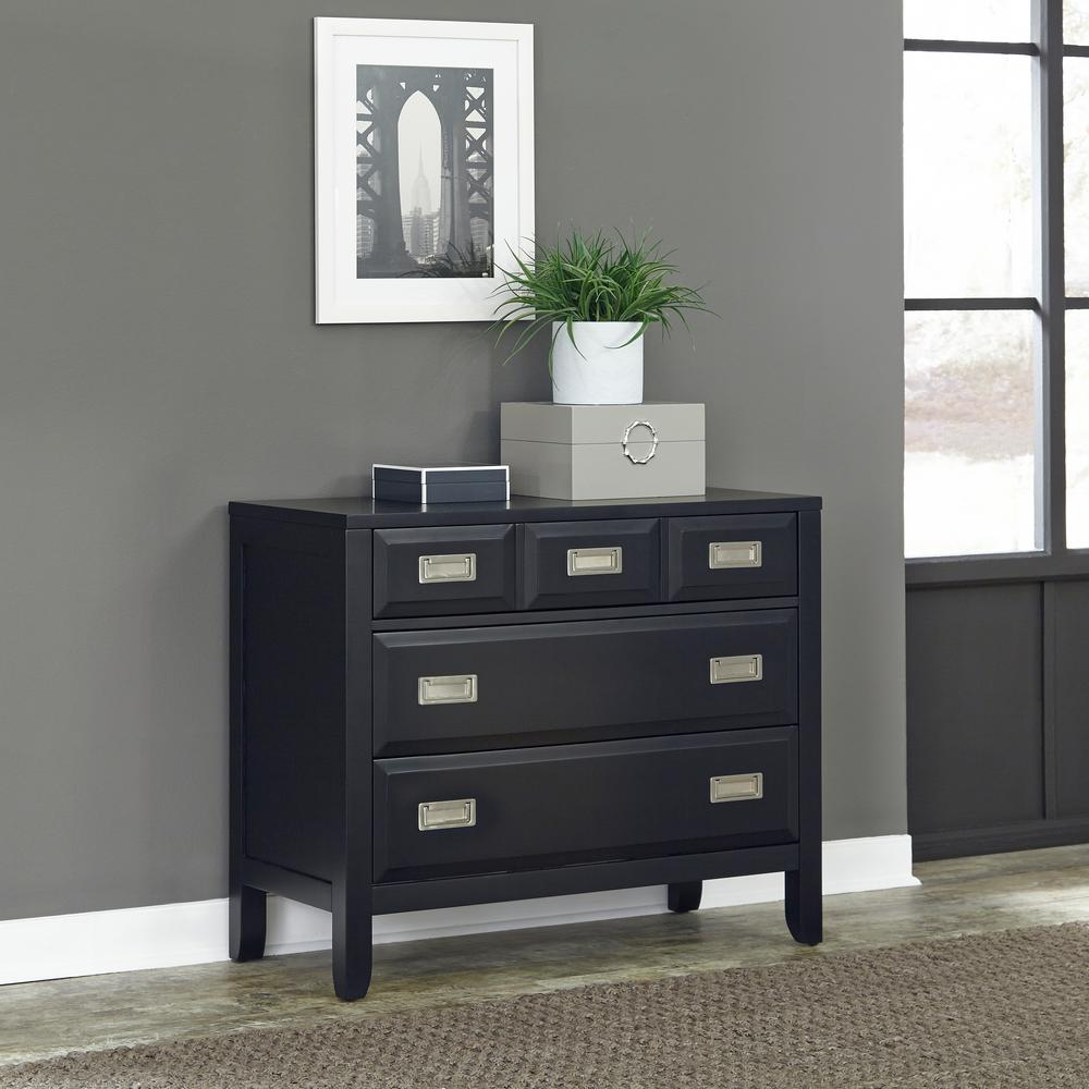 Prescott 3-Drawer Black Chest