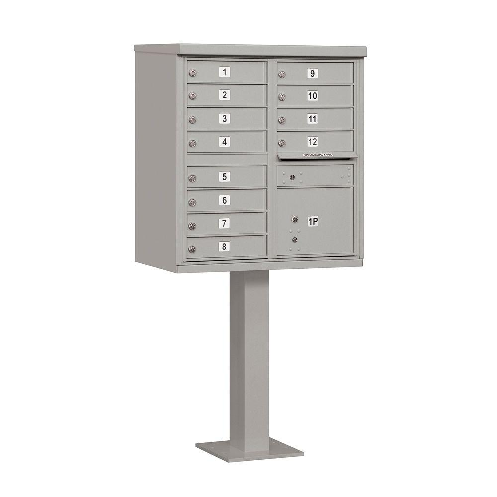 3300 Series Gray Private 12 A Size Doors Type II Cluster