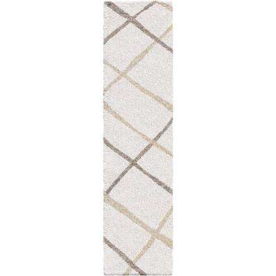 Diamond Thatch Ivory  2 ft. x 8 ft. Runner Rug