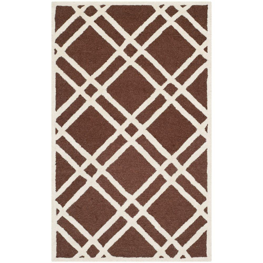 Safavieh Cambridge Dark Brown/Ivory 3 ft. x 5 ft. Area Rug