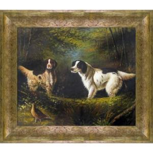 ''October in the Forest with Sirocco'' by Arthur Fitzwilliam Tait Framed Abstract Wall Art Oil Painting 31 in. x 27 in.