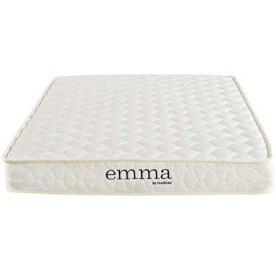 Emma 6 in. Twin Mattress in White