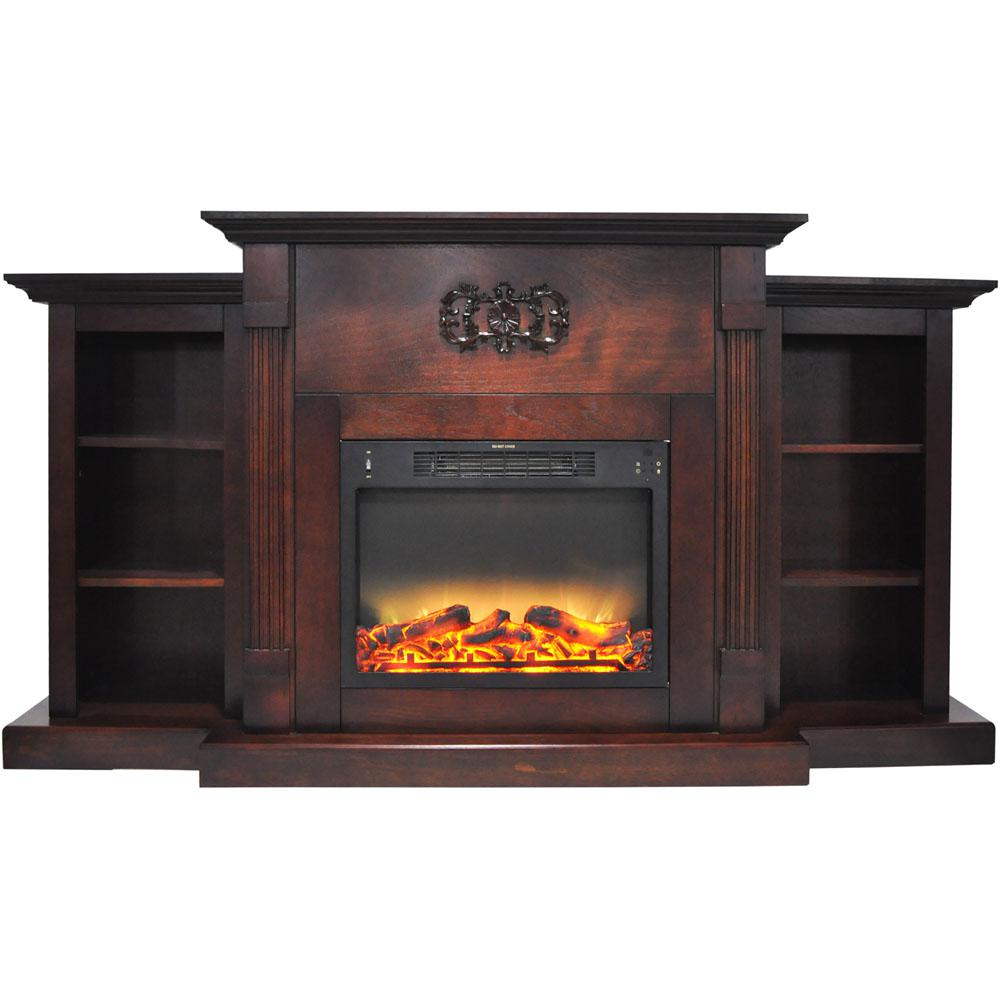 Electric Fireplace Heaters Home Depot: Cambridge Sanoma 72 In. Electric Fireplace In Mahogany
