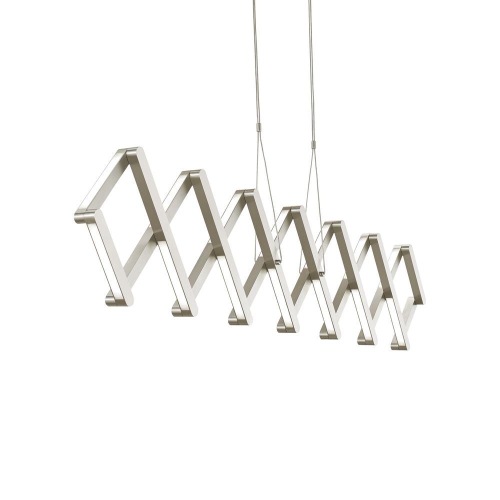 LBL Lighting Calix 49-Watt Satin Nickel Integrated LED Pendant