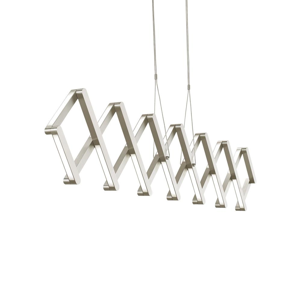 Lbl lighting xterna linear 40 watt satin nickel integrated led pendant