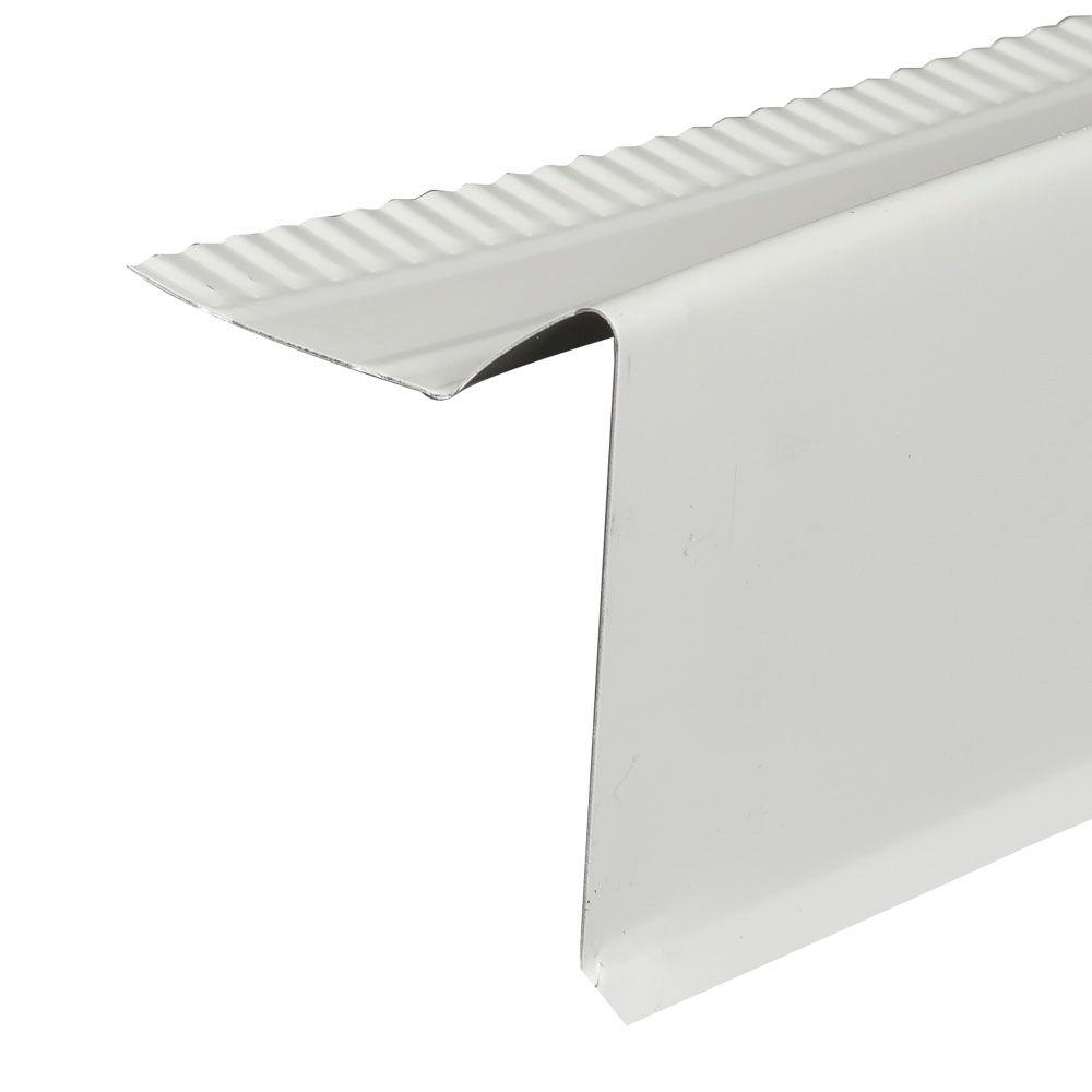 Amerimax Home Products 2 In. X 10 Ft. White Aluminum