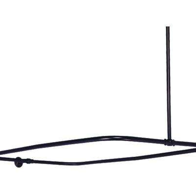 43 in. x 23 in. Shower Enclosure Only in Oil Rubbed Bronze