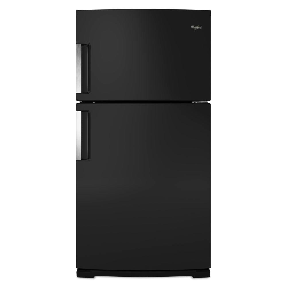 Whirlpool Gold 21.1 cu. ft. Top Freezer Refrigerator in Black