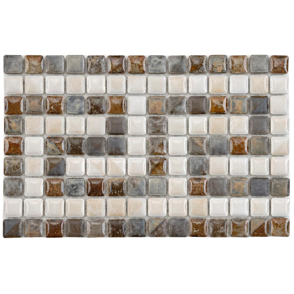 Merola Tile Rustica Mini Greek Key Perla Border 6 In X 9 3