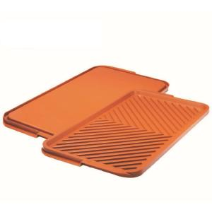 19.50 in. x 10.75 in. Ti-Ceramic Non-Stick Extra Large Reversible Double Grill