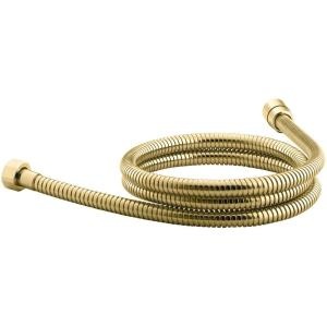 Metal Shower Hose In Vibrant Polished Brass