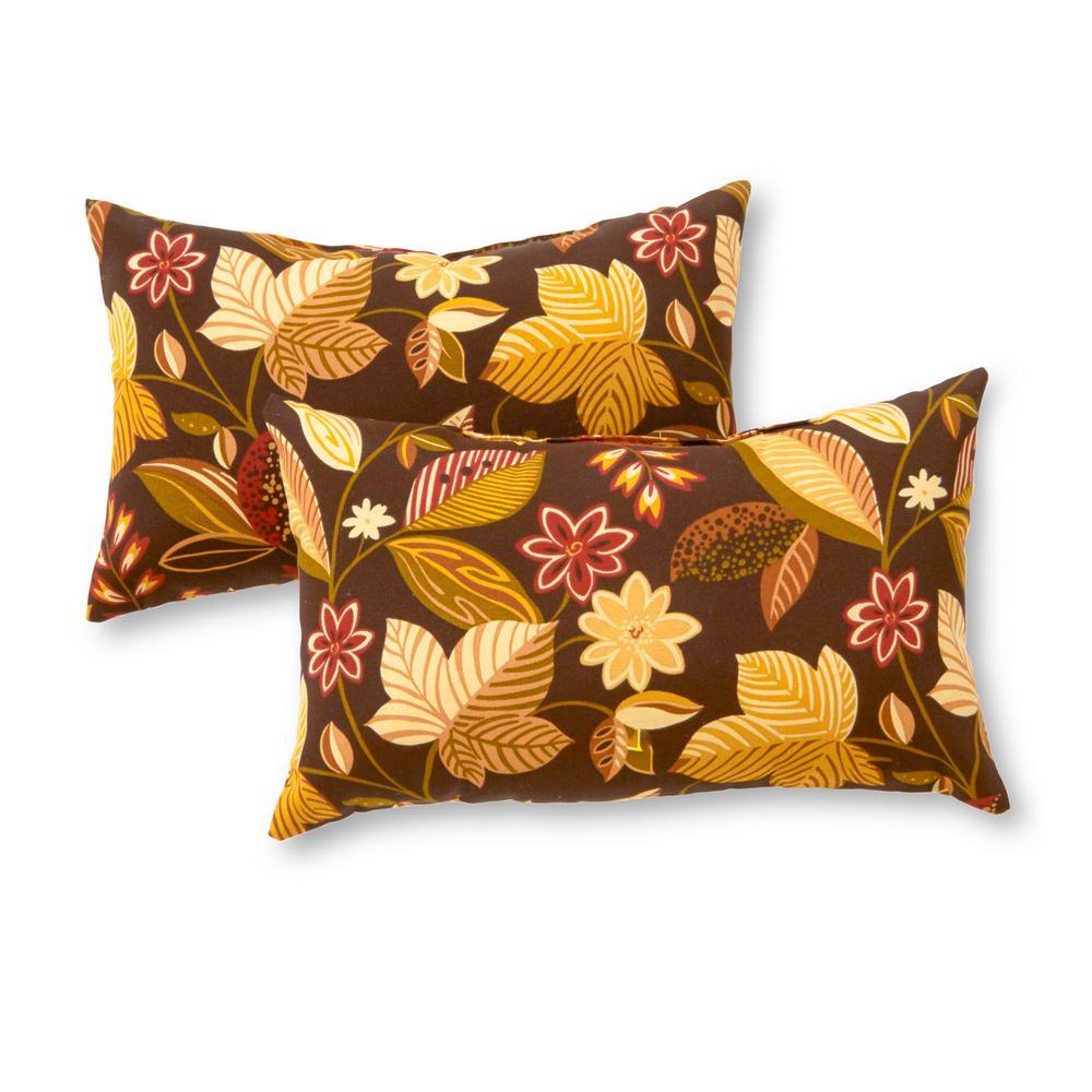 Timberland Floral Lumbar Outdoor Throw Pillow (2-Pack)