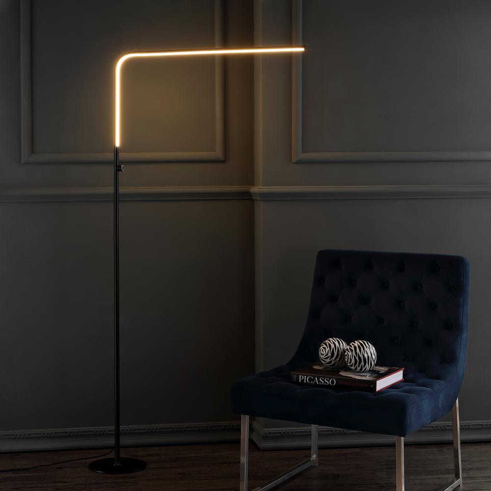 Natalie 63 in. Black LED Integrated Floor Lamp