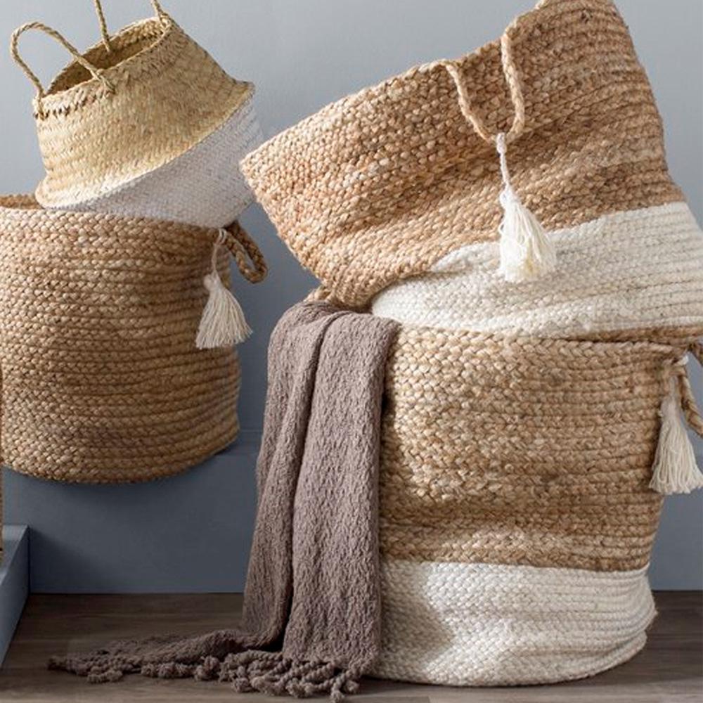 Natural Jute Decorative Storage Basket