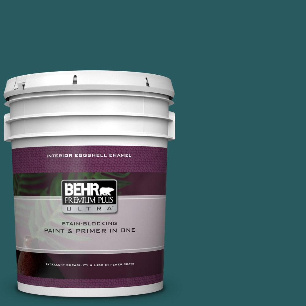 Behr Premium Plus Ultra 5 Gal S H 500 Realm Eggshell Enamel Interior Paint And Primer In One 275305 The Home Depot