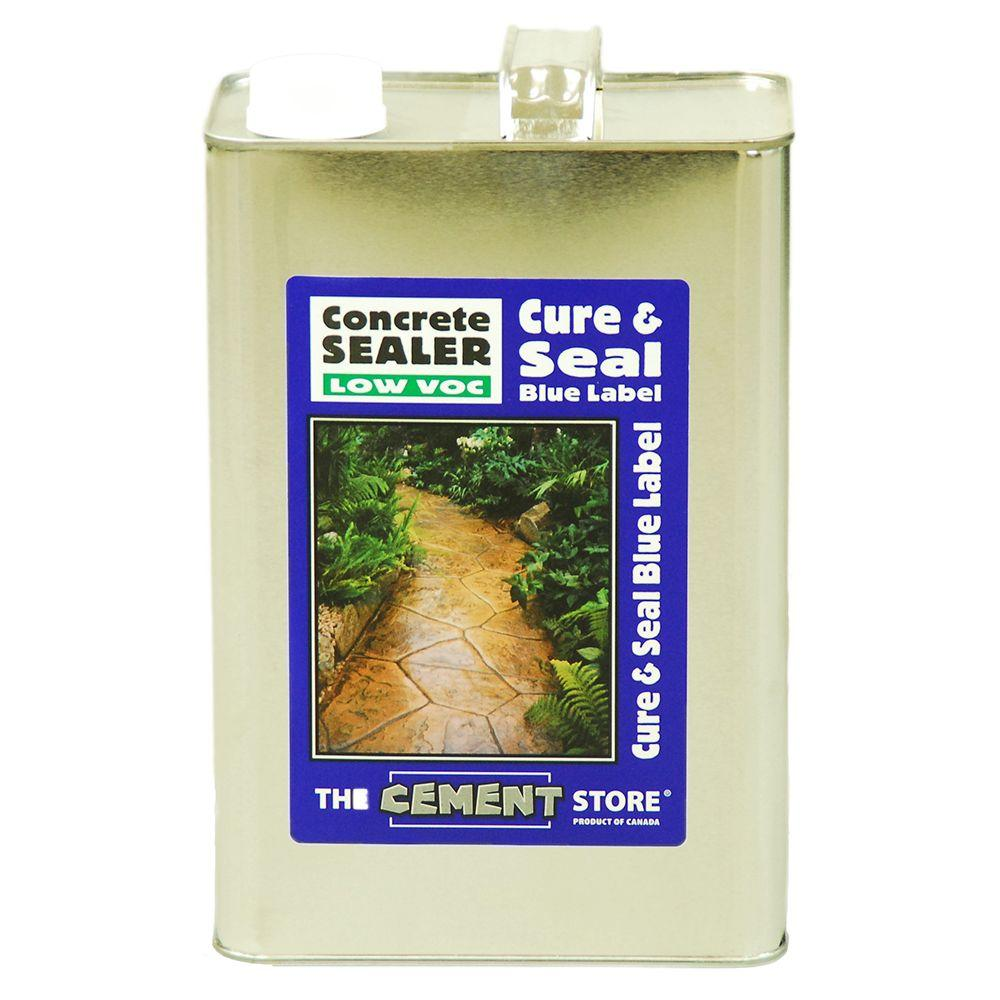 The Cement Store 1 gal. Porous Concrete and Masonry Solvent-Based Water Repellent Penetrating Acrylic Concrete Sealer
