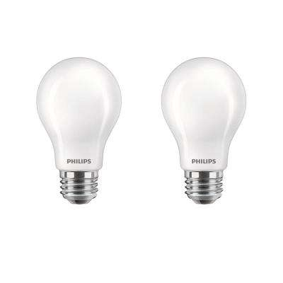 60-Watt Equivalent A19 Energy Saving LED Light Bulb in Soft White with Warm Glow Dimming Effect (2700K) (2-Pack)