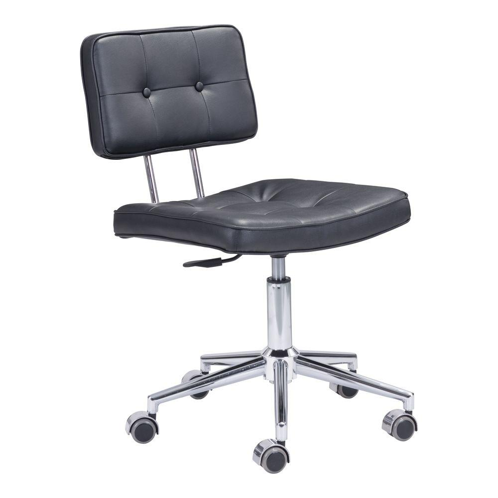 Zuo Series Black Leatherette Office Chair