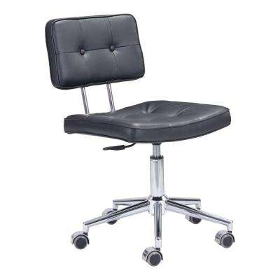 Series Black Leatherette Office Chair