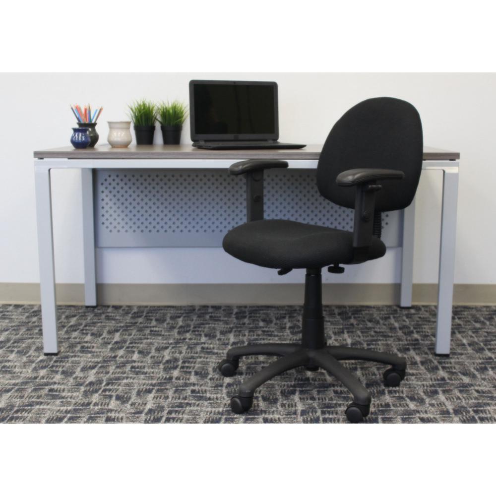 HomePro Adjustable Arm Task Chair. BlackTweed Fabric Pnuematic lift.