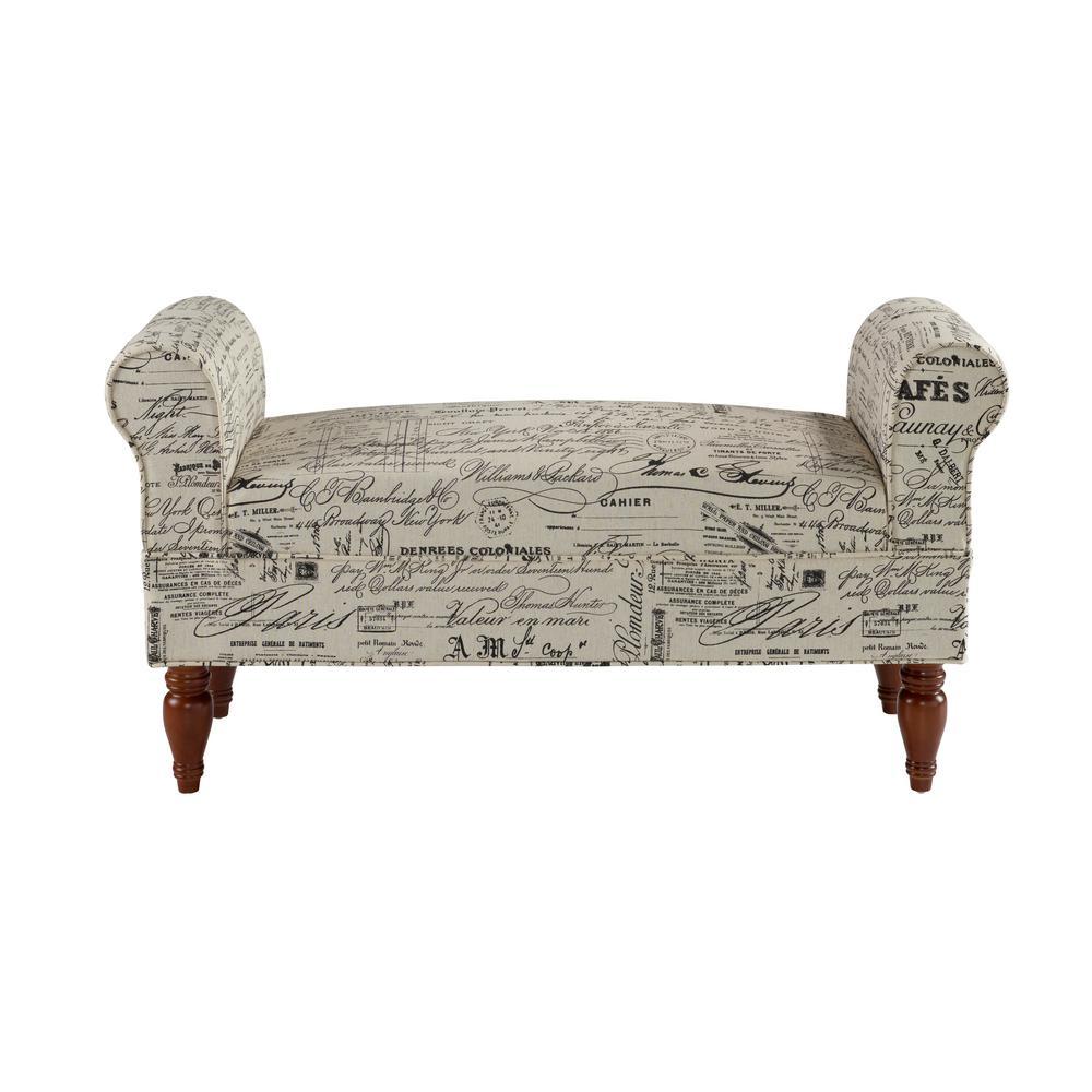 Lillian Dark Mahogany Bench