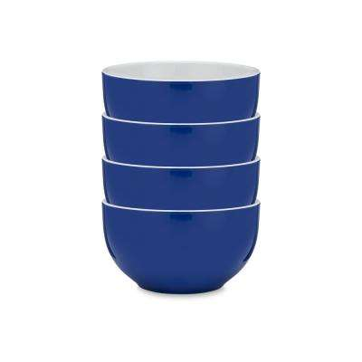 Bistro 4-Piece Blue Melamine Cereal Bowl Set