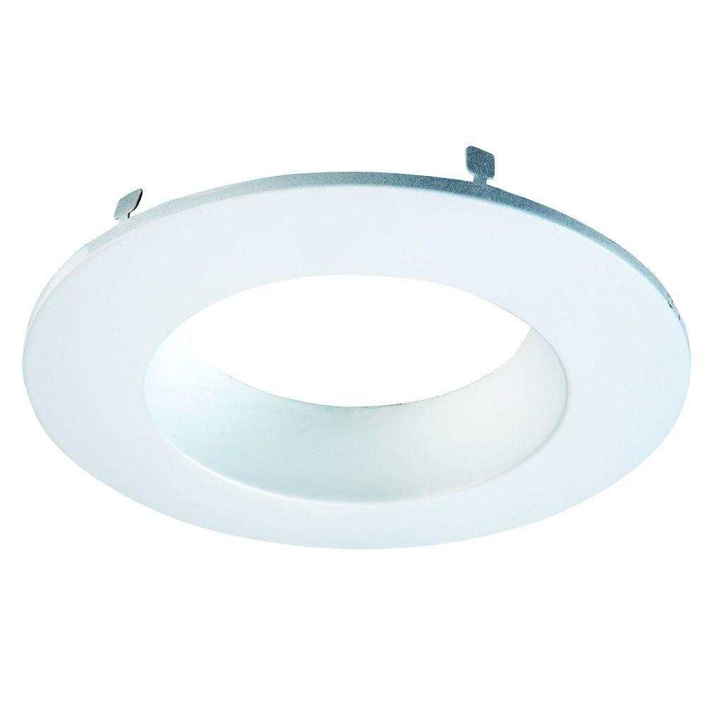 RL 4 in. White Primed Recessed Lighting Retrofit Replaceable Trim Ring