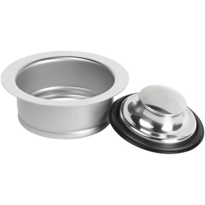 Garbage Disposal Rim and Stopper in Stainless Steel
