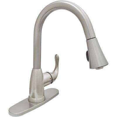 Best Kitchen Faucets.Market Single Handle Pull Down Sprayer Kitchen Faucet In Stainless Steel
