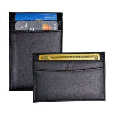 Slim Credit Card Case Wallet in Genuine Leather