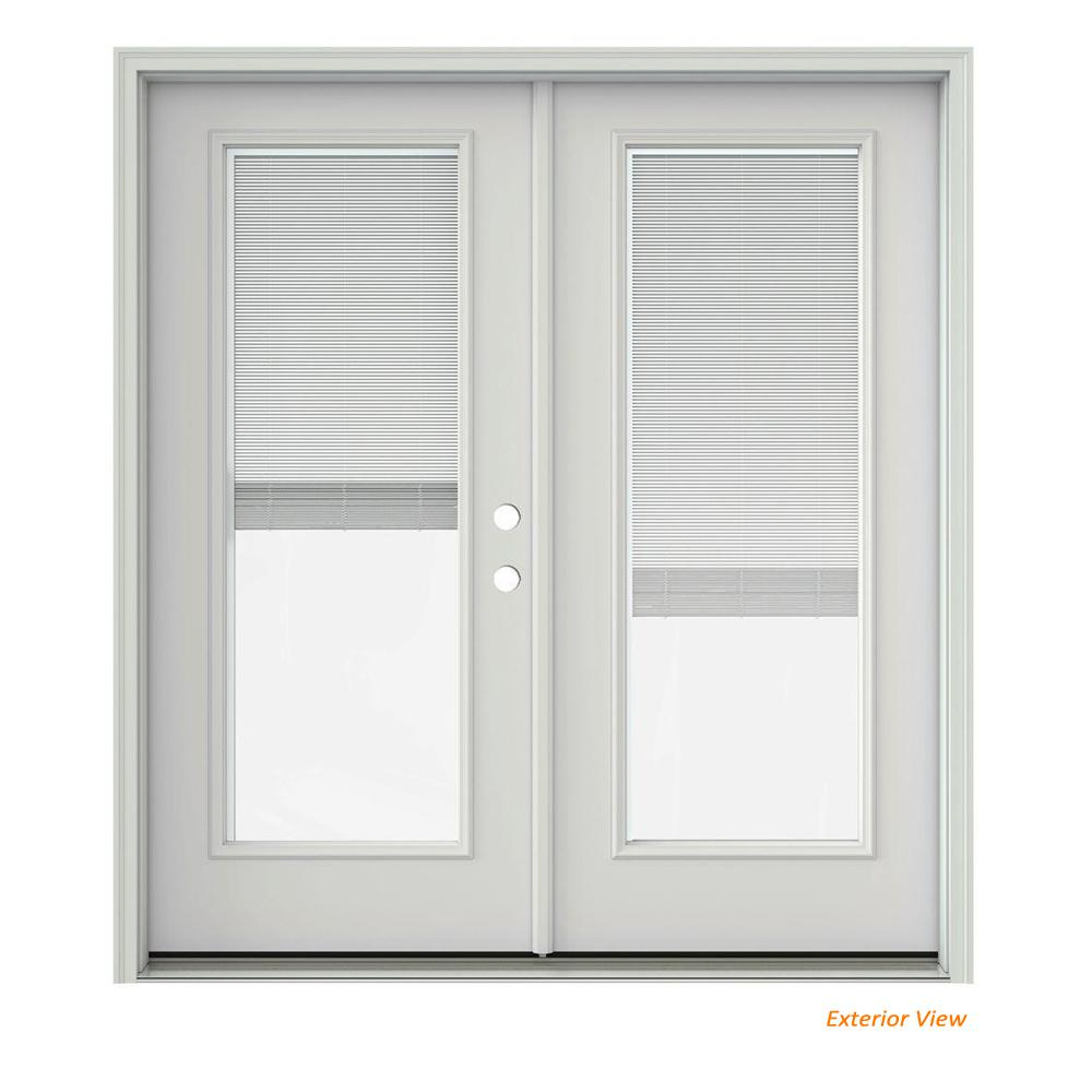 Jeld wen 60 in x 80 in vanilla painted steel right hand inswing this review is from72 in x 80 in primed steel left hand inswing full lite glass activestationary patio door planetlyrics Gallery