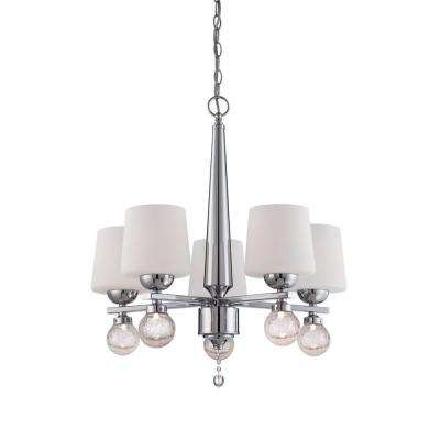 Astoria 5-Light Chrome Interior Incandescent Chandelier