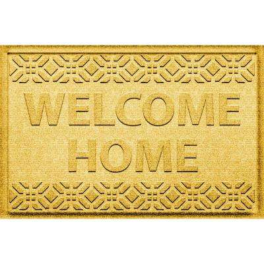 Welcome Home Yellow 24 in. x 36 in. Polypropylene Door Mat