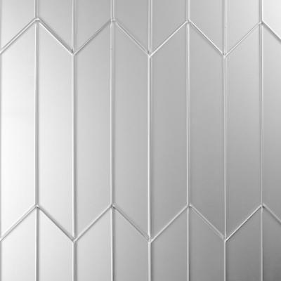 Reflections Silver Deco 4 in. x 12 in. Frosted Glass Mirror Wall Tile (16.2 Sq.Ft./Case)