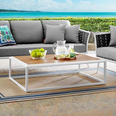 Stance White Natural Aluminum Outdoor Coffee Table
