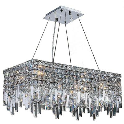 Cascade Collection 6-Light Polished Chrome Chandelier with Clear Crystal