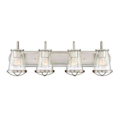 Darby 4-Light Satin Platinum Interior Bath Bar Light