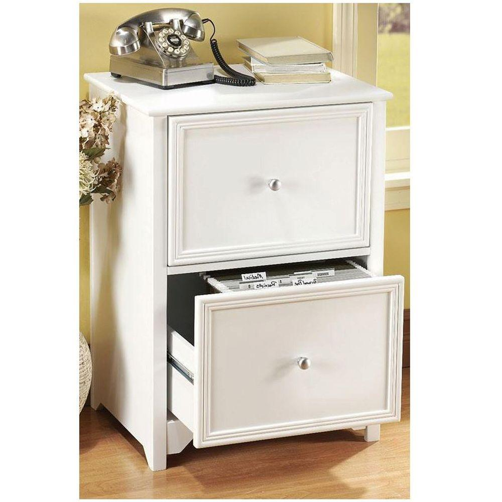 VERTICAL FILE CABINET Oxford White Home Office 2 Drawer Paper Filing Wood  Drawer