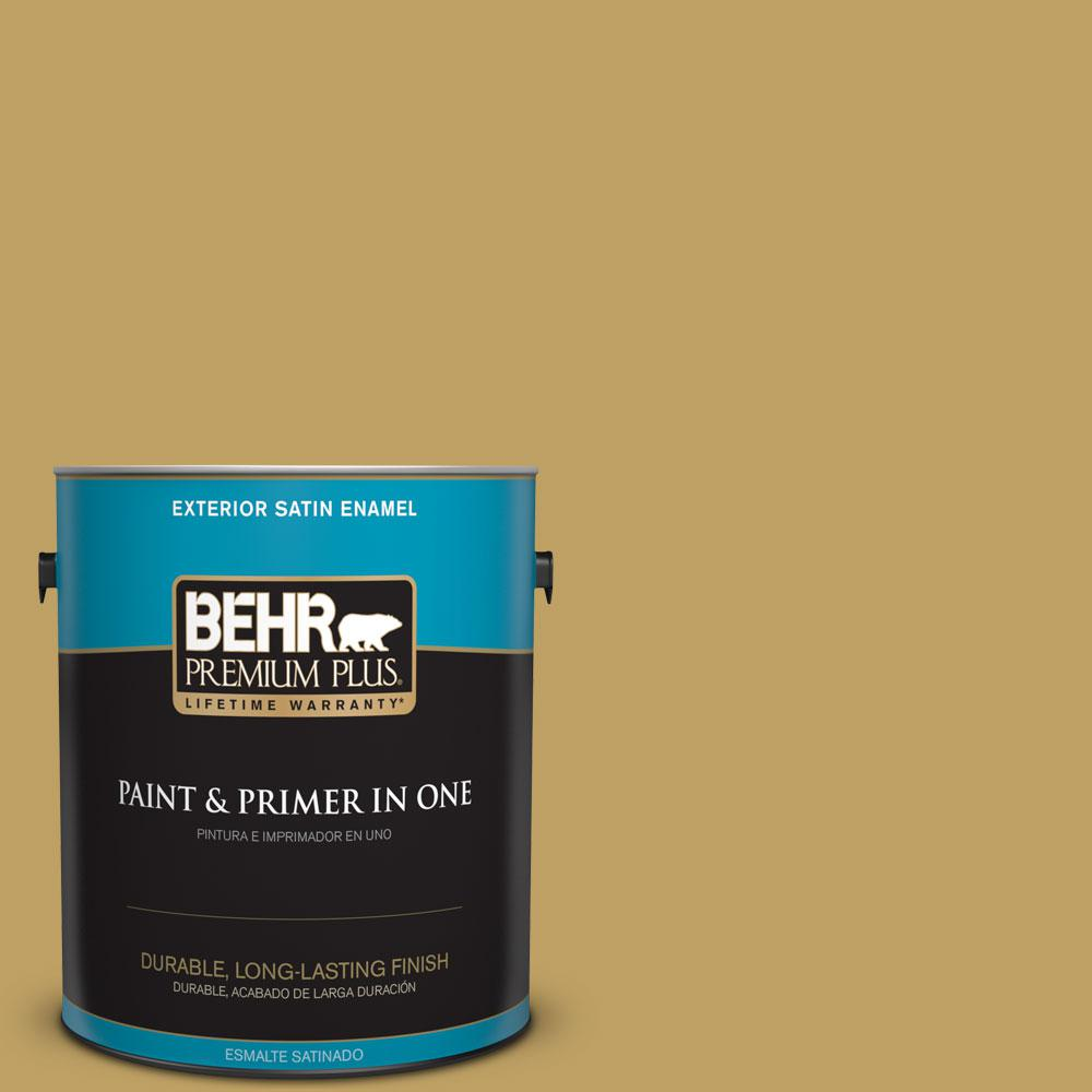 1-gal. #360F-5 Desert Moss Satin Enamel Exterior Paint