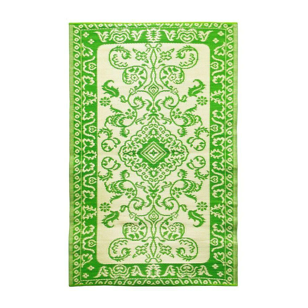 Achla Designs Tracery Lime 4 ft. x 6 ft. Indoor/Outdoor Area Rug, Green Achla Designs Tracery Lime 4 ft. x 6 ft. Indoor/Outdoor Area Rug, Green