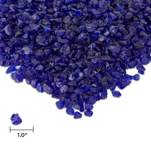 Outdoor Fire Table Accessory 0.25 in. Fire Glass 20 lbs. Bag in Cobalt Blue