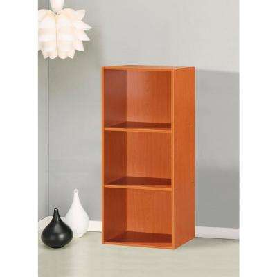 3-Shelf, 36 in. H Cherry Bookcase