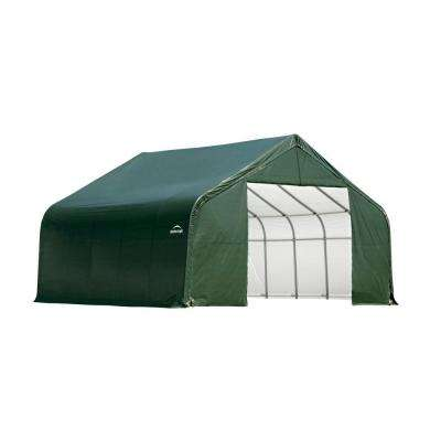 30 ft. x 24 ft. x 16 ft. Green Steel and Polyethylene Garage without Floor